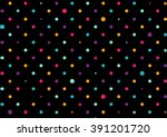 colorful dots black background...
