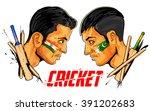 illustration of cricket player... | Shutterstock .eps vector #391202683