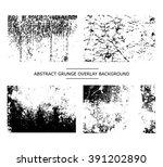 grunge texture . set of grunge... | Shutterstock .eps vector #391202890