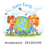 save earth. april 22   earth... | Shutterstock .eps vector #391203190