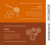honey product banner. honey... | Shutterstock .eps vector #391206028