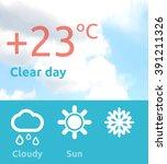 weather web element banner...