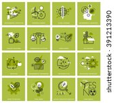 Set Of Thin Line Icons Of...
