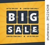big sale banner. mechanical... | Shutterstock .eps vector #391214248
