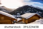 alps holiday cottage | Shutterstock . vector #391224658