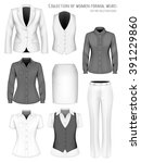 collection of formal wear for... | Shutterstock .eps vector #391229860