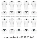 collection of vector t shirt... | Shutterstock .eps vector #391231960