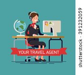 your travel agent vector... | Shutterstock .eps vector #391232059