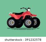 cool vector quad bike. all...