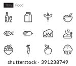 food vector icons set | Shutterstock .eps vector #391238749