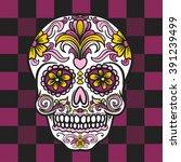 Mexican Sugar Skull. Vector...
