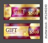 gift voucher template. can be... | Shutterstock .eps vector #391240240