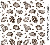 seamless pattern with sketch... | Shutterstock .eps vector #391249003