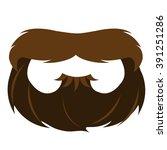 beard and mustache mask in... | Shutterstock .eps vector #391251286