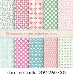 polka dot vector seamless... | Shutterstock .eps vector #391260730