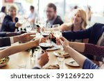 business people party... | Shutterstock . vector #391269220