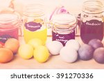 easter eggs painted with... | Shutterstock . vector #391270336
