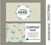 business card with butterflies  ... | Shutterstock .eps vector #391273984