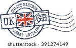 postal grunge stamp 'united... | Shutterstock .eps vector #391274149