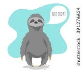 vector illustration of lazy... | Shutterstock .eps vector #391276624