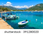 Typical Fishing Boats In Small...