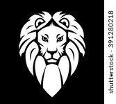 lion head icon on black... | Shutterstock .eps vector #391280218