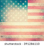 grunge usa flag | Shutterstock . vector #391286110
