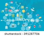 internet of things  iot  and... | Shutterstock .eps vector #391287706