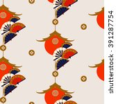 seamless pattern with chinese... | Shutterstock .eps vector #391287754