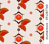 chinese background vector... | Shutterstock .eps vector #391287760
