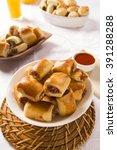 brazilian snack. pepperoni... | Shutterstock . vector #391288288