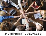 union unity deal join hands... | Shutterstock . vector #391296163