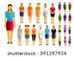 woman vector icons set | Shutterstock .eps vector #391297924