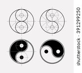 ying yang symbol of harmony and ... | Shutterstock .eps vector #391299250