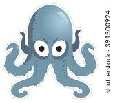 mask octopus for children's... | Shutterstock .eps vector #391300924