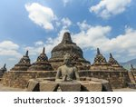 borobudur temple indonesia | Shutterstock . vector #391301590
