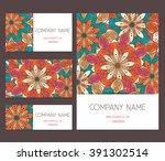 set of business card  banner... | Shutterstock .eps vector #391302514