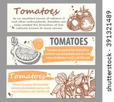 set of hand drawn tomatoes .... | Shutterstock .eps vector #391321489