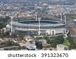 melbourne cityscape and... | Shutterstock . vector #391323670