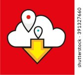 flat laconic icon logo of cloud ...
