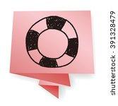 lifebuoy doodle | Shutterstock .eps vector #391328479