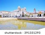 square of lagos city in algarve ... | Shutterstock . vector #391331293