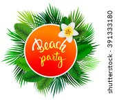 Summer Tropical Label Of Palm...