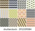 set of 12 universal different... | Shutterstock .eps vector #391339084
