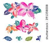Watercolor Flower Bouquets....