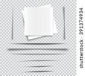 set of transparent realistic... | Shutterstock .eps vector #391374934