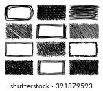 hand drawn scribble squares ... | Shutterstock .eps vector #391379593