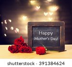 happy mothers day message on a...   Shutterstock . vector #391384624