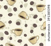 seamless vector pattern with... | Shutterstock .eps vector #391385398