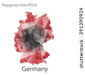 germany map in geometric... | Shutterstock .eps vector #391390924